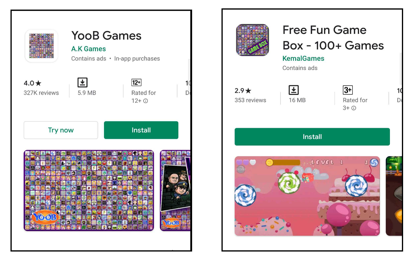 More than 100 Games in one app