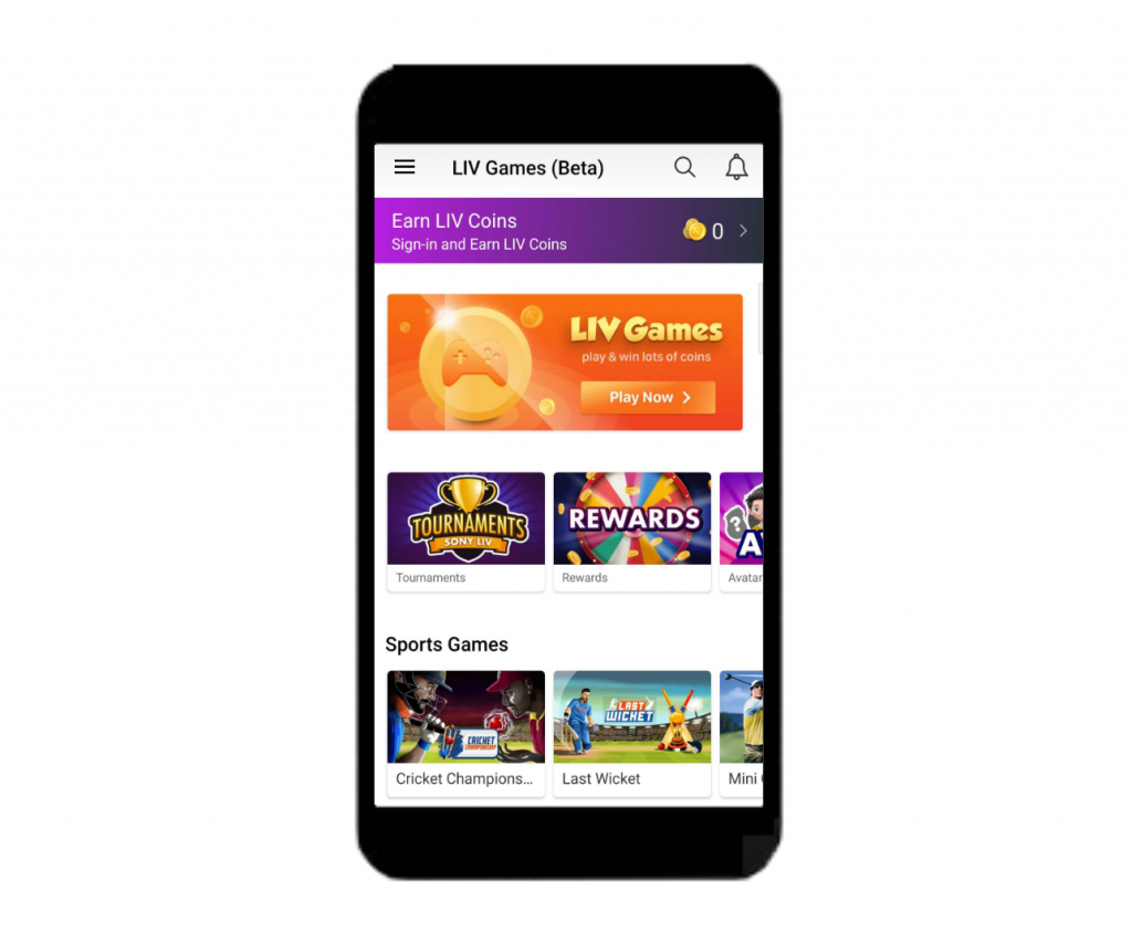 Sony Liv Games