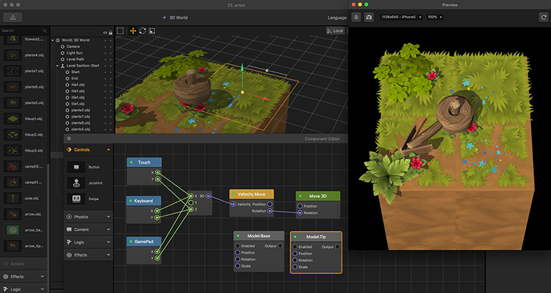 buildbox helps you to make game without coding